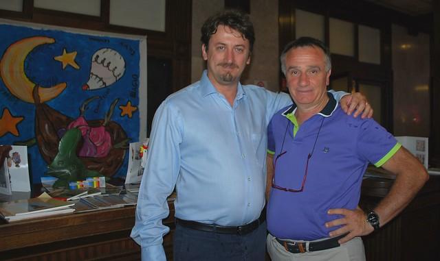 Il vicesindaco e assessore all'Agricoltura Pinuccio Valenzano e il sindaco di Acquaviva Davide Carlucci, presidente di Cuore della Puglia