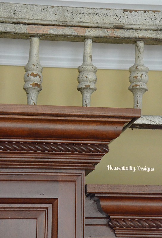 Adding an antique architectural piece in the kitchen for Architectural gingerbread trim