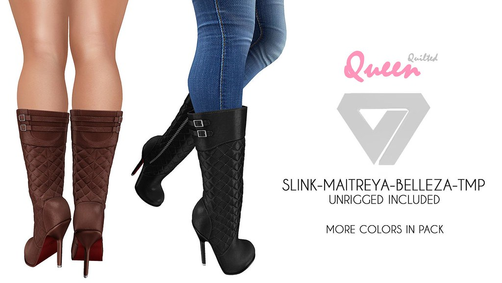 Queen Quilted Boots (for MeshBodyAddicts) - SecondLifeHub.com