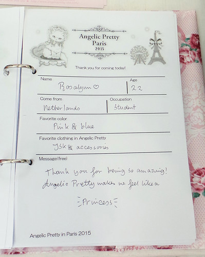 Angelic Pretty Guestbook