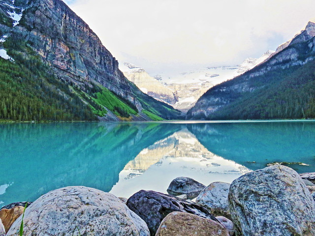 Lake Louise reflections 2-20150620