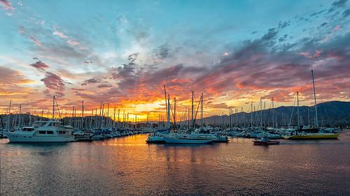 Sunset Santa Barbara Marina
