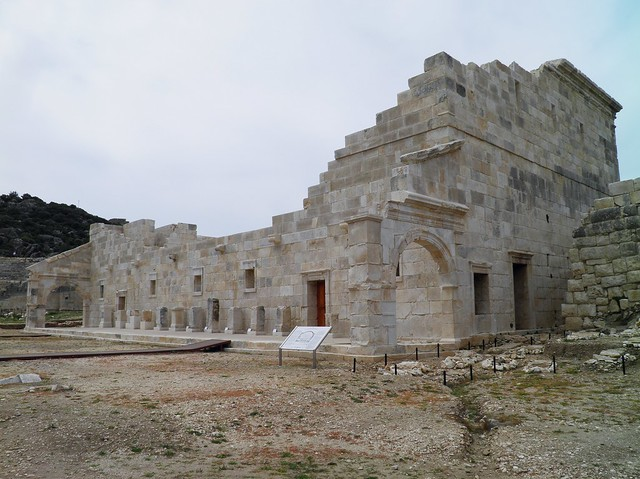 View of the exterior of the restored Council Chamber (Bouleuterion), Patara, Turkey
