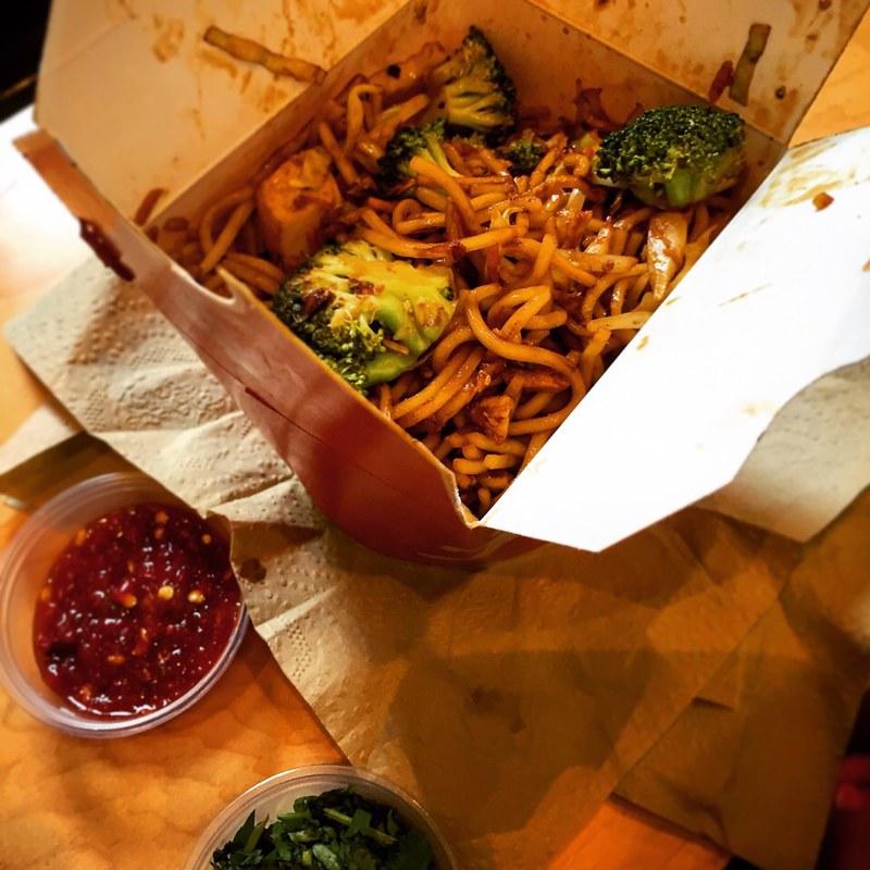 Chicken with Broccoli Lo Main