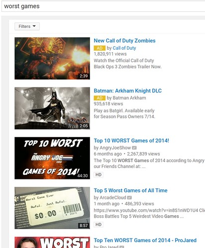 Worst Games Lists On YouTube
