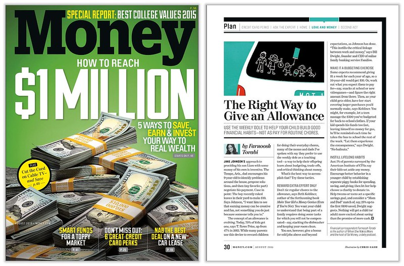 FamZoo featured in Money Magazine August 2015