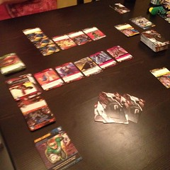 I am the #greenlantern. We are #geeks. #dccomics #deckbuilding #game