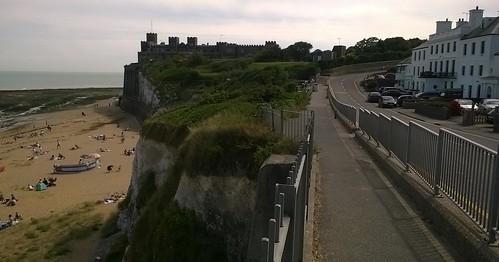 Kent coast, castle