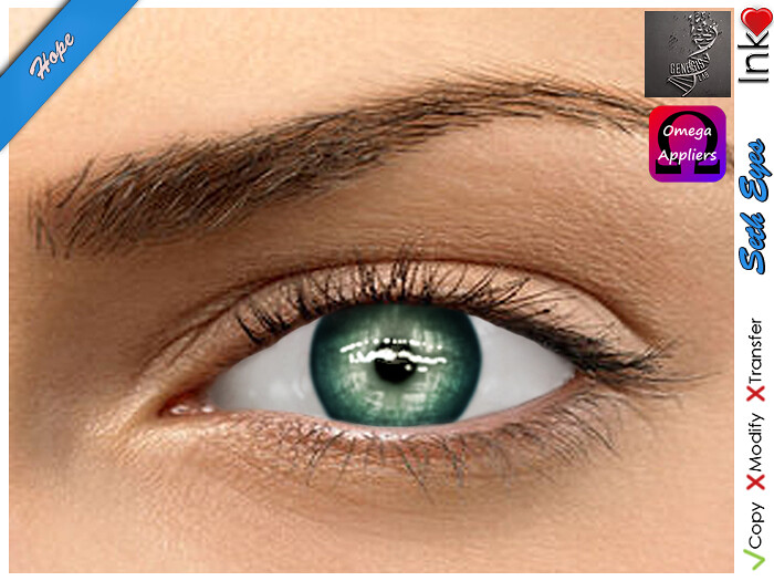 * Inkheart * - Seth Eyes - Hope (4 Sizes Mesh + System + Omega & Genesis Applier) - SecondLifeHub.com