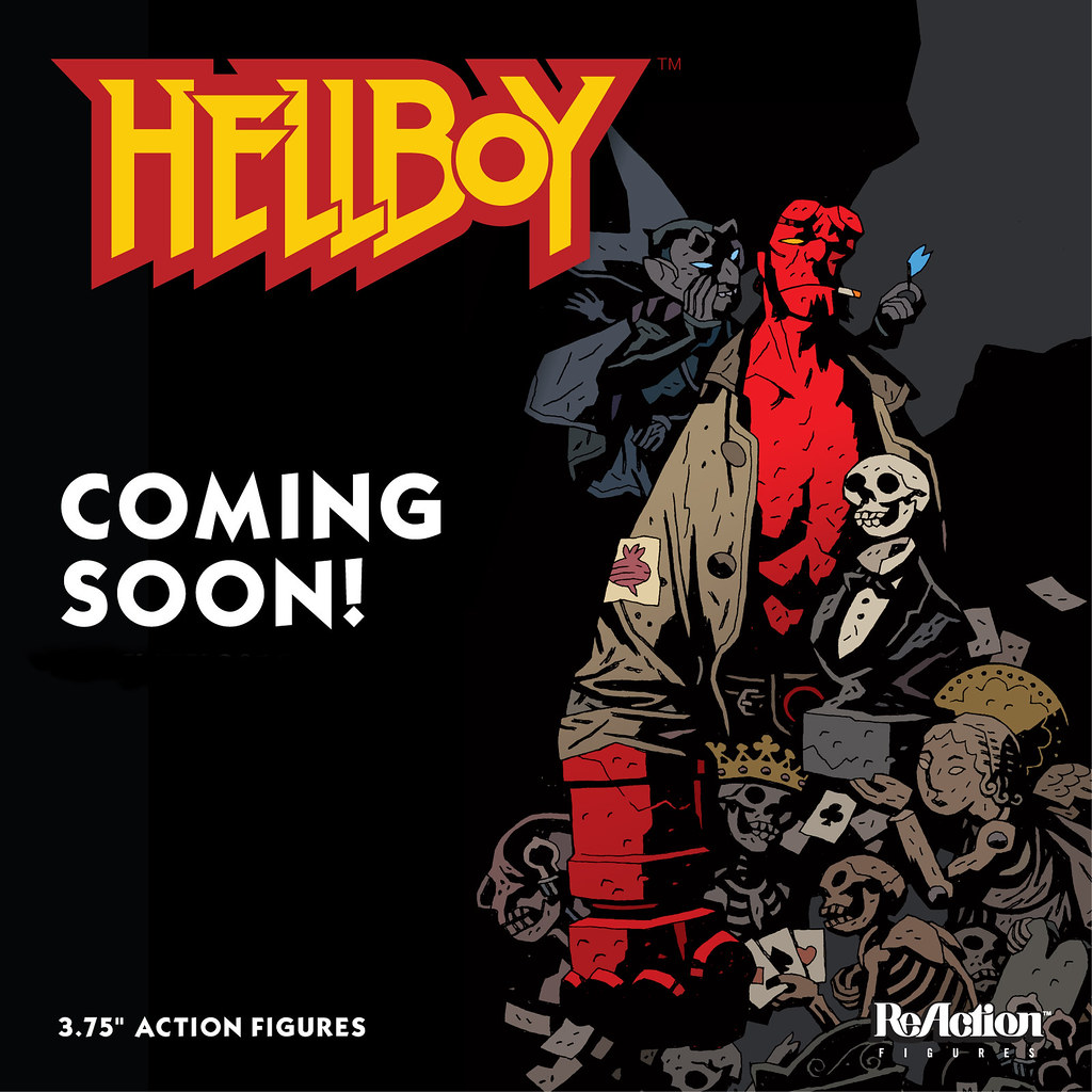 SUPER7 ReAction 系列【Mike Mignola 地獄怪客】Hellboy 3.75 吋吊卡作品