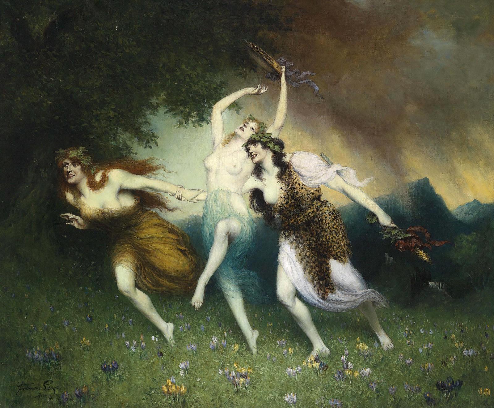 Ferdinand Leeke, Fliehende Nymphen, 1923
