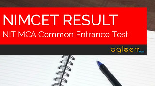 NIMCET Result 2016 - NIT MCA Entrance Test Results