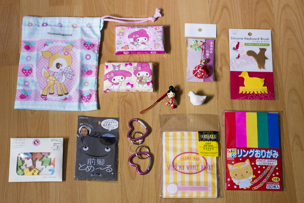 japan tokyo haul stuff I bought items consumer kitsch kawaii cute adorable