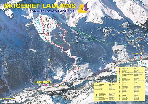 Ladurns - mapa sjezdovek