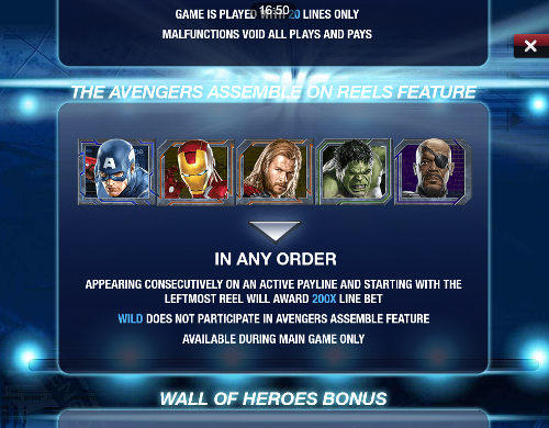 free The Avengers Mobile bonus feature