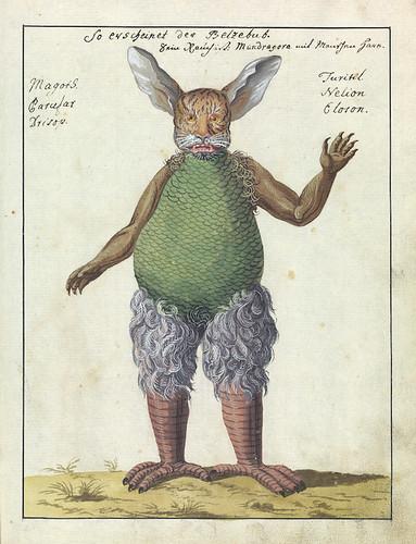 L0076362 Illustration of Beelzebub, MS 1766