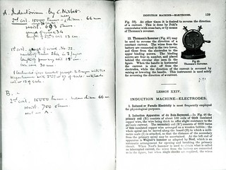 C.S. Sherrington's copy of W. Stirling, Outlines of Practical Physiology (London, 1888)