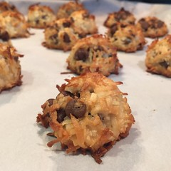 Gluten free chocolate chip coconut macaroons for tomorrow Sunday Funday with friends!