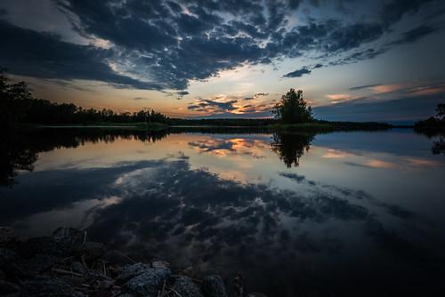 sunset sky lake water clouds landscape se sweden outdoor nik sverige uppsalalän nikviveza2 nikond750 afsnikkor16354gvr