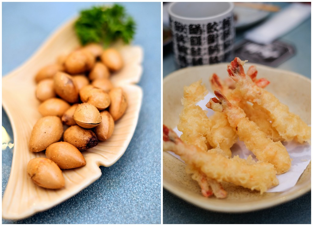 Ikoi Japanese Restaurant's ginko nuts & lightly battered prawn