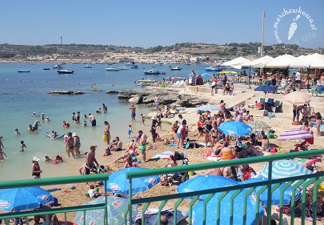 Malta June/July 2015, Marsaskala, sandy beach, st Thomas bay,