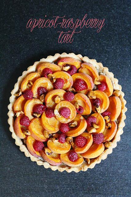 apricot-raspberry tart