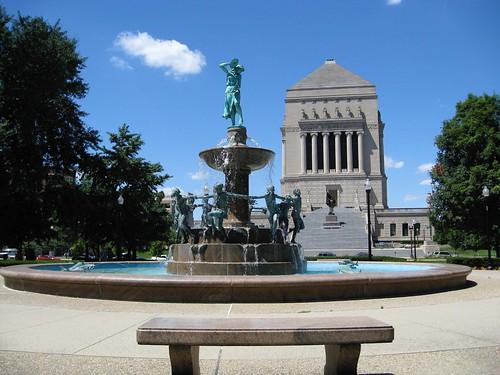 Indianapolis Indiana ~  Depwe Fountain ~ HIstoric