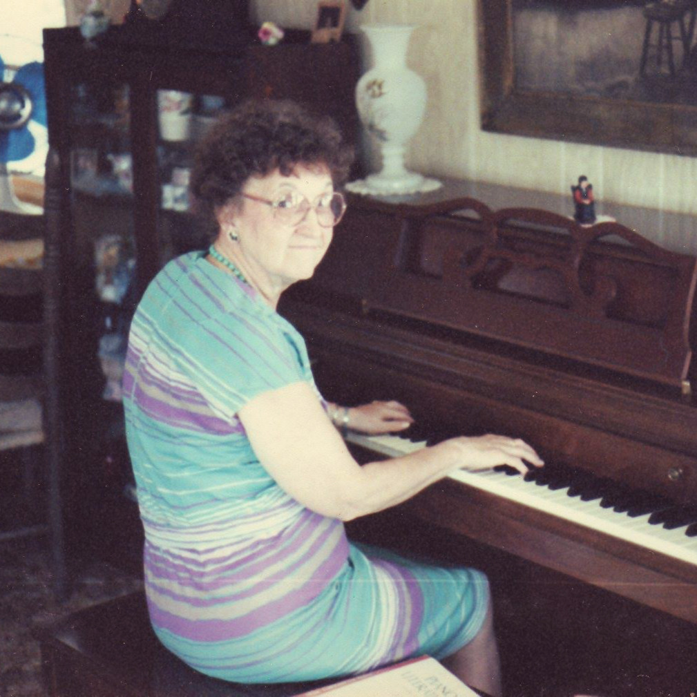 grandma at piano