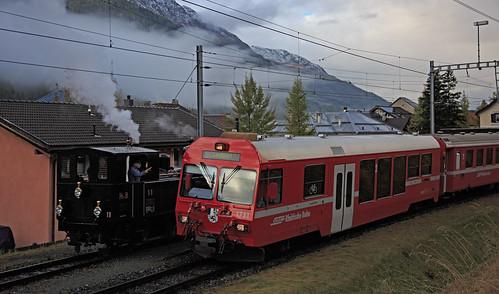 Rhätische Bahn 11 & 1751 S-chanf 15 oktober 2016