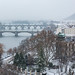 Snowstorm Panorama Prague by GOLDENORFE