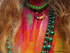 close up goddess kring painted body