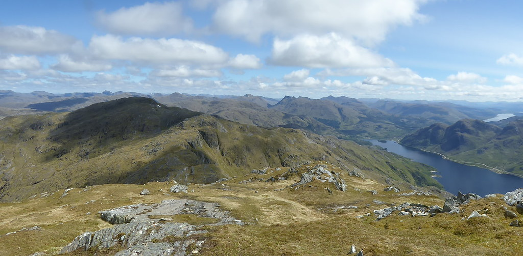 North eastern pano from Beinn Odhar Bheag