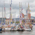 Belfast Marina during Tall Ships Belfast
