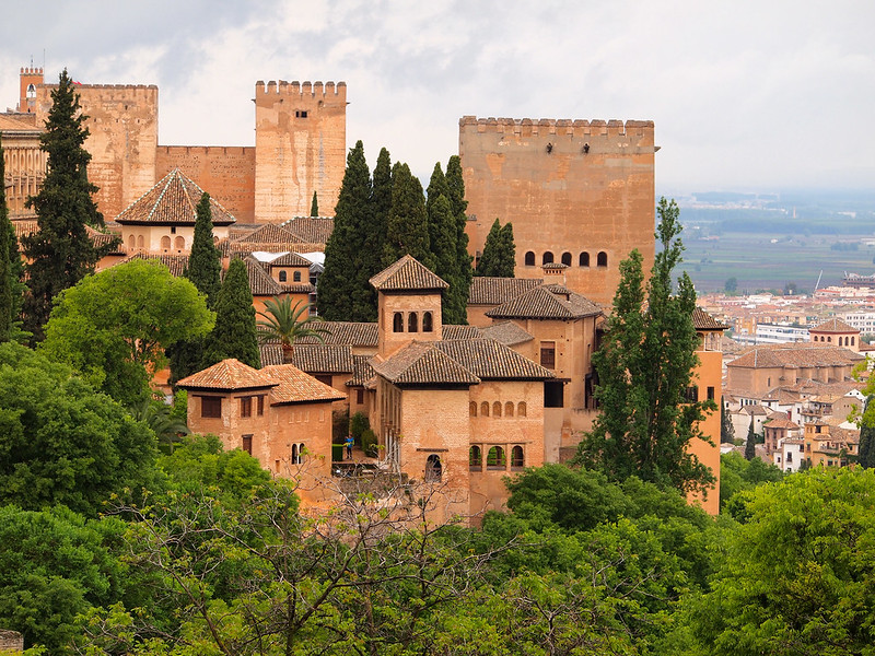 Looking out over the Nasrid Palaces of the Alhambra