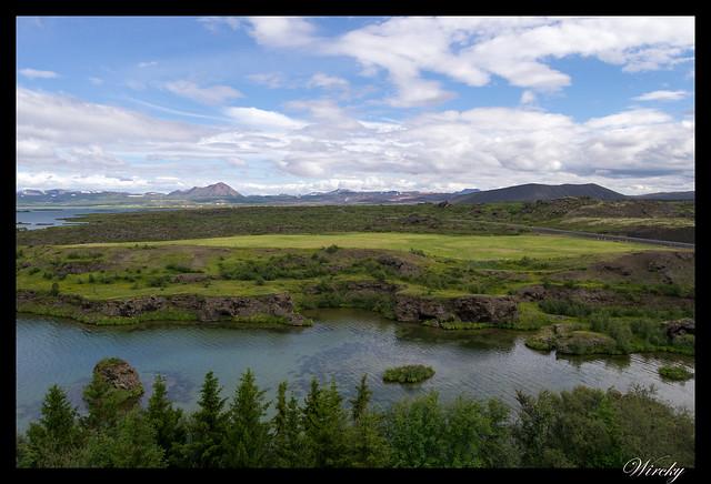Península Höfdi en lago Mývatn