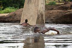 Kids swimming, Mongu, Barotseland, Zambia