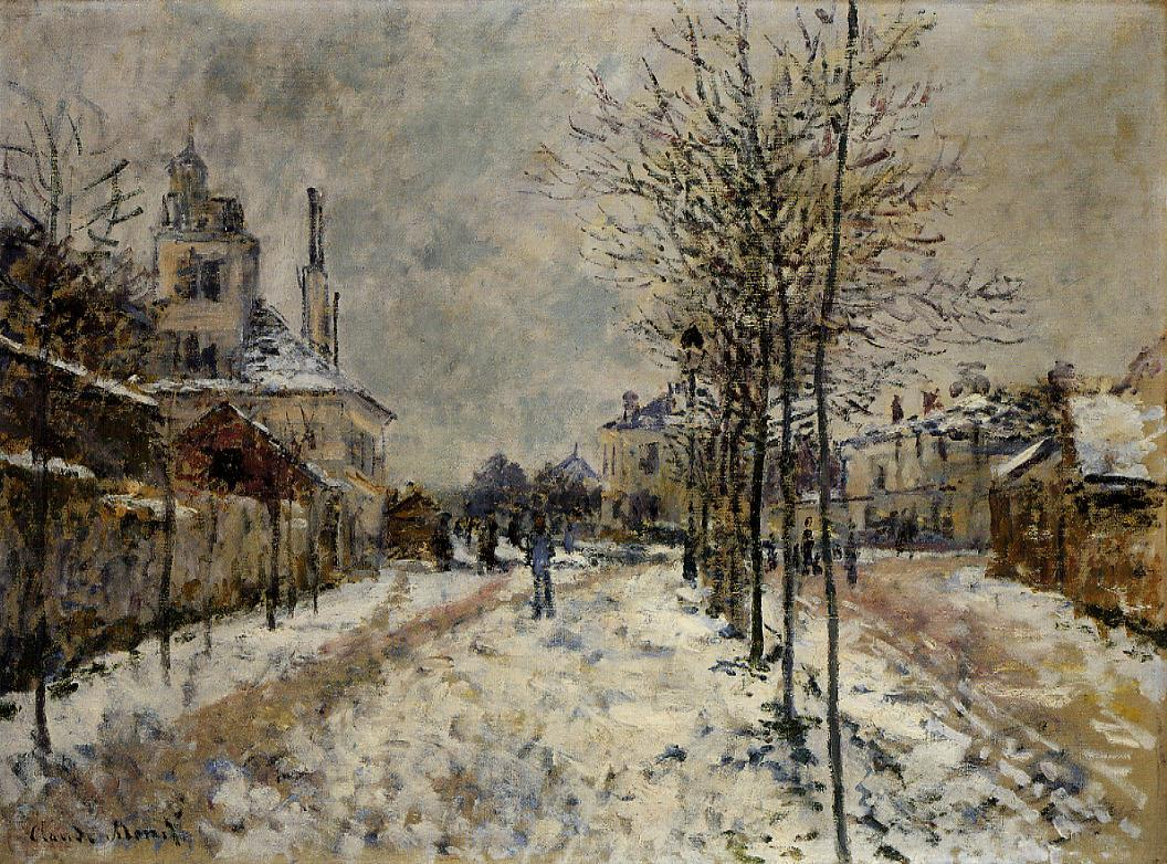 The Boulevard de Pontoise at Argenteuil, Snow Effect by Claude Monet - 1875