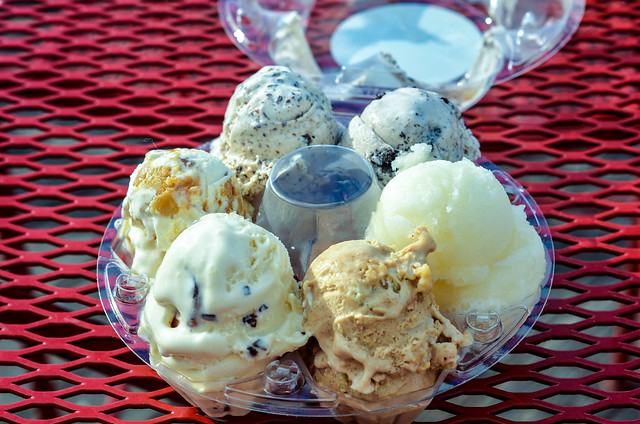 Ample Hills ice cream flight