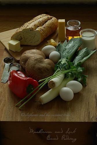 mushroom and leek bread pudding  (2)