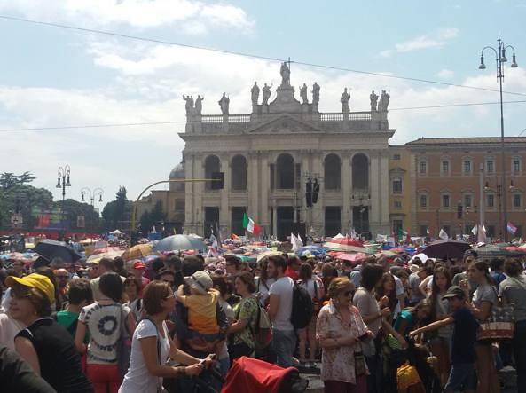 Manif por tous en Roma (foto de ANSA)