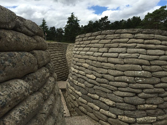 Trincheras restauradas en la cresta de Vimy (Norte de Francia)
