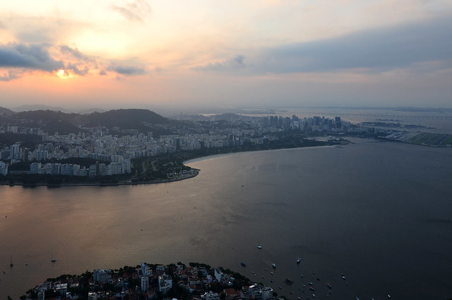 Rio de Janeiro desde el Pan de Azúcar al atardecer