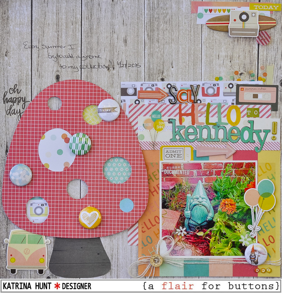 Say Hello To Kennedy-{a flair for buttons} and Simple Stories