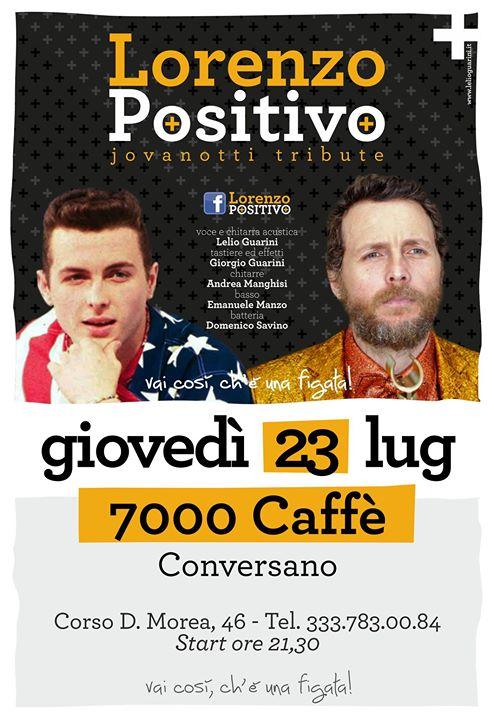 Conversano- Lorenzo Positivo Jovanotti Tribute al 7000 caffè