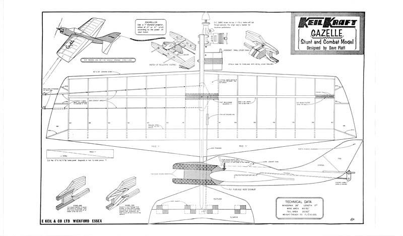 magasin d'usine 30a88 2c8c0 KeilKraft Gazelle Scratch Build - Control Line Singapore