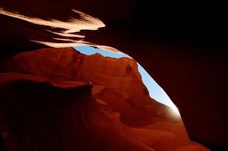Lever du soleil sur les montagnes - Antelope Canyon