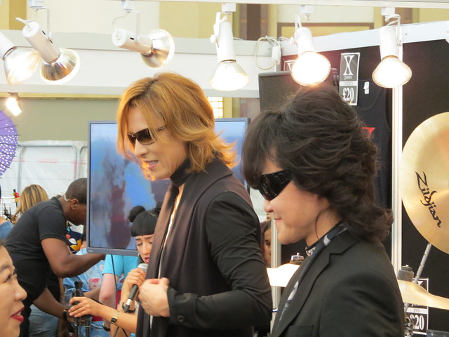 Yoshiki & Toshi from X Japan do a meet & greet at HYPER JAPAN