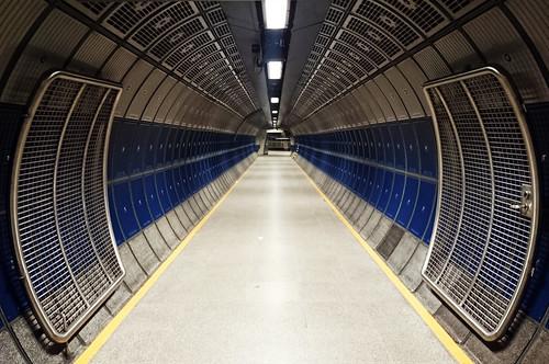 London tube corridor
