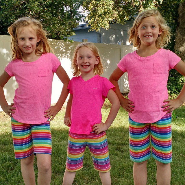 I brought some shorts for Lexi and they are similar to Shanna and Haley's new ones. #cousinfun #triplets @lee_robertson80 @rogbart @britt_barth