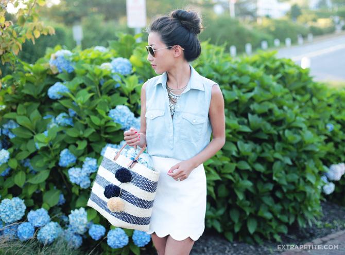 topshop scallop hem miniskirt1